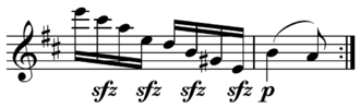 Syncopation - Image: Beethoven String Quartet syncopation