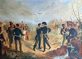 Yatasto relay - Meeting of Manuel Belgrano and José de San Martín at Yatasto