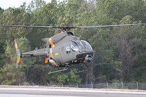 Bell ARH-70 Arapaho - An ARH-70 arriving at Cairns Army Airfield, Alabama