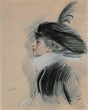 Belle da Costa Greene - Belle da Costa Greene, pastel portrait by Paul César Helleu, ca. 1913.
