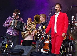 Bellowhead - From left to right: John Spiers, Ed Neuhauser, Benji Kirkpatrick, Jon Boden.