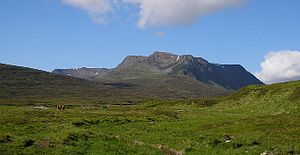 Ben Alder - Ben Alder seen from near Culra bothy to the east