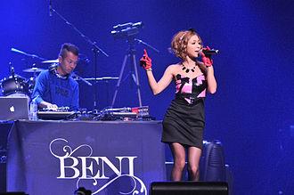 Beni (singer) - Singer Beni (also known as Beni Arashiro) performing at Anime Expo 2010