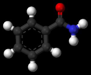 Benzamide - Image: Benzamide 3D balls