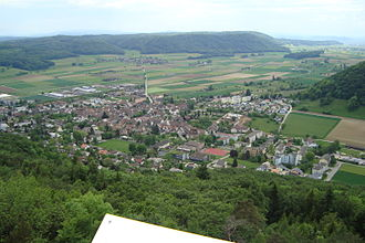 Beringen, Switzerland - Image: Beringen aerial