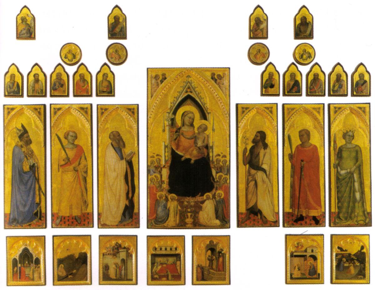 Polittico di santa reparata wikipedia - La tavola rotonda santa maria degli angeli ...