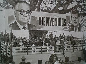Alliance for Progress - Venezuelan President Rómulo Betancourt and U.S. President John F. Kennedy at La Morita, Venezuela, during an official meeting for the Alliance for Progress in 1961