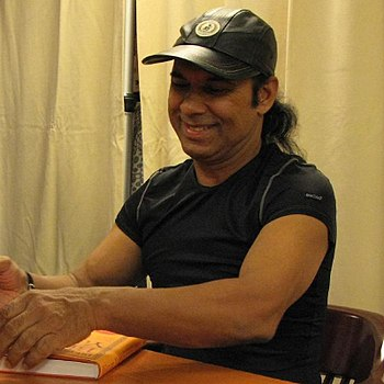 Bikram Choudhury at a book signing in New York...