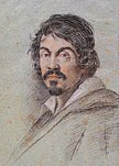 Posthumes Porträt Caravaggios von Ottavio Leoni, um 1614, Bibliotheca Marucelliana, Florenz