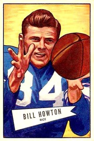 Billy Howton - 1952 Bowman football card