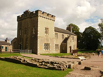 Banna (Birdoswald) - The 19th-century farmhouse constructed on the site of Birdoswald Fort.