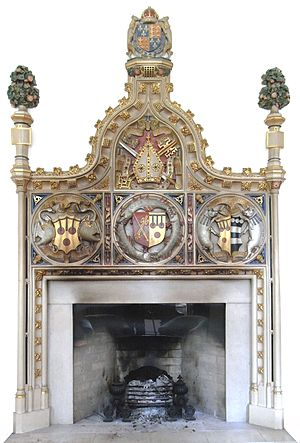 Peter Courtenay - Image: Bishop Peter Courtenay Mantelpiece Exeter Palace