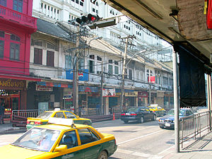 English: Charoen Krung Road, Bangrak district,...