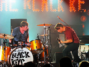Band (rock and pop) - The Black Keys are a two-part band consisting of drummer and a vocalist/guitarist line-up.