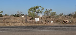 National Register of Historic Places listings in Roosevelt County, New Mexico - Image: Blackwater Draw archaeological site, entrance from E 1