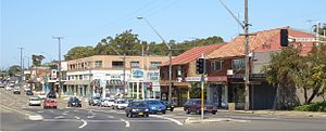 Blakehurst, New South Wales - Princes Highway intersection with King Georges Road