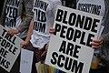Blonde People are scum - World Pride London 2012 (7528155178).jpg