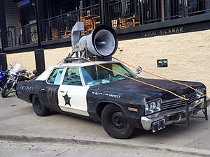 Bluesmobile - Bluesmobile replica at House Of Blues in Dallas.