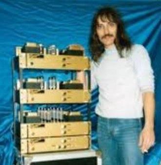 Gjika Amplification - Bob Gjika with his Gold Amp 1988