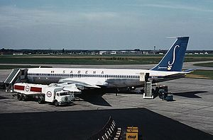 Brussels Airport - Sabena Boeing 707-300 at Brussels Airport in 1966