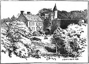 "Airlie, Angus - Drawing of ""The Bonnie Hoose o' Airlie"""