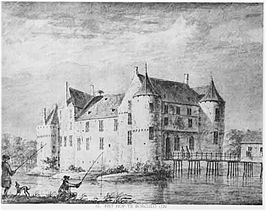 Borculo in 1720 door Abraham de Haen