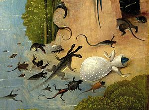Bosch, Hieronymus - The Garden of Earthly Delights, left panel - Detail Amphibia and fish.jpg