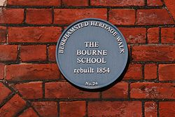 Photo of Bourne School, Berkhamsted blue plaque