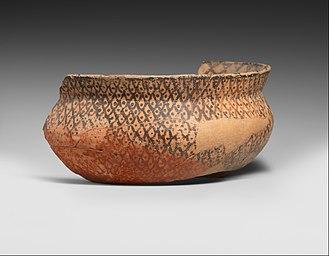 Halaf culture - Image: Bowl fragment MET DP368821