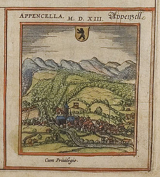 Appenzell District - Appenzell in the 16th Century