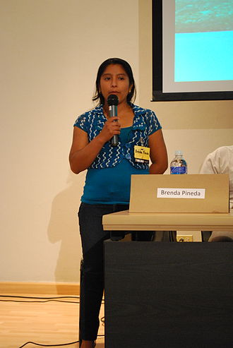 Ch'orti' people - Brenda Suyapa Pineda representing the Chortis of Honduras at the Universidad Nacional Autónoma de Honduras.