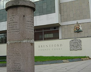 Battle of Brentford (1016) - A monument commemorating this and other battles in Brentford