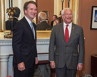 Roger Wicker - Supreme Court Nominee Judge Brett Kavanaugh and U.S. Senator Roger Wicker