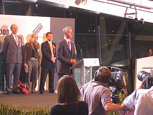 Brian Paddick, Baron Paddick - Paddick speaking in City Hall after the results of the London mayoral election had been announced, 3 May 2008