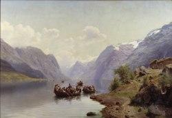 Johan Fredrik Eckersberg: Bridal Escort on the Hardanger Fiord
