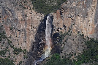 Bridalveil Fall - Bridalveil Fall as seen from Tunnel View on California State Route 41.