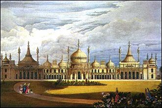 Regency era - Image: Brighton Pavilion from Views of the Royal Pavilion (1826) edited