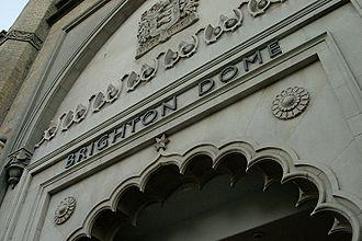Brighton Dome - The entrance of the Brighton Dome