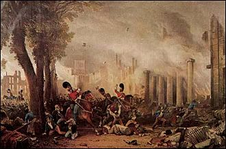 3rd Dragoon Guards - The 3rd Dragoon Guards violently suppressing the Bristol Riots of 1831