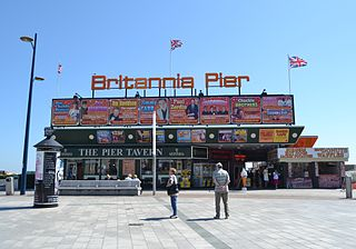 Britannia Pier pier with a theatre in Great Yarmouth, England