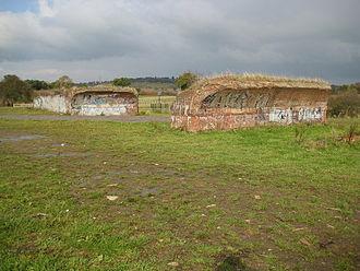 Brockley Hill tube station - Remains of viaduct built for Brockley Hill station
