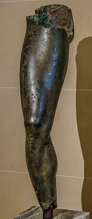 Chatsworth Head - A bronze leg, probably from the same statue (Louvre)