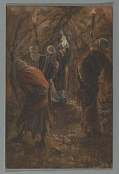 James Tissot: The Chasm in the Rock in the Cave Beneath Calvary