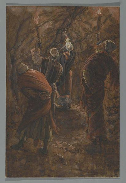 File:Brooklyn Museum - The Chasm in the Rock in the Cave Beneath Calvary (La fente du rocher dans la grotte sous le calvaire) - James Tissot.jpg
