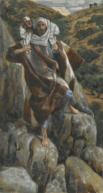 Parable of the Lost Sheep - James Tissot - The Good Shepherd (Le bon pasteur) - Brooklyn Museum