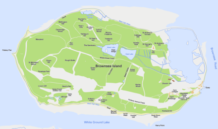 Map of Brownsea Island Brownsea Island OS OpenData map.png