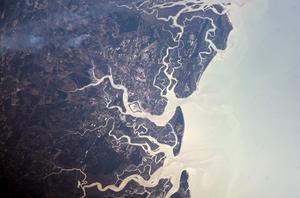 Brunswick metropolitan area - A NASA image of the Brunswick metropolitan area with the Atlantic Ocean to the right.