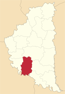 Location of Bučačas rajons