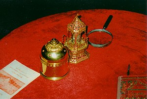 Śarīra - Buddha relics from Kanishka the Great's stupa in Peshawar, Pakistan, now in Mandalay, Burma. Teresa Merrigan, 2005