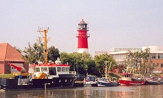 Büsum - Büsum Lighthouse and harbor